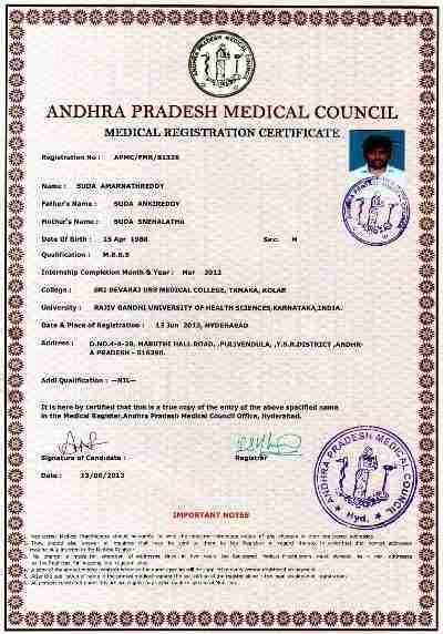 Dr. Amarnath Reddy's profile on Curofy