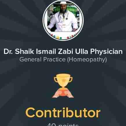 Dr. Shaik Ismail Zabi Ulla's profile on Curofy