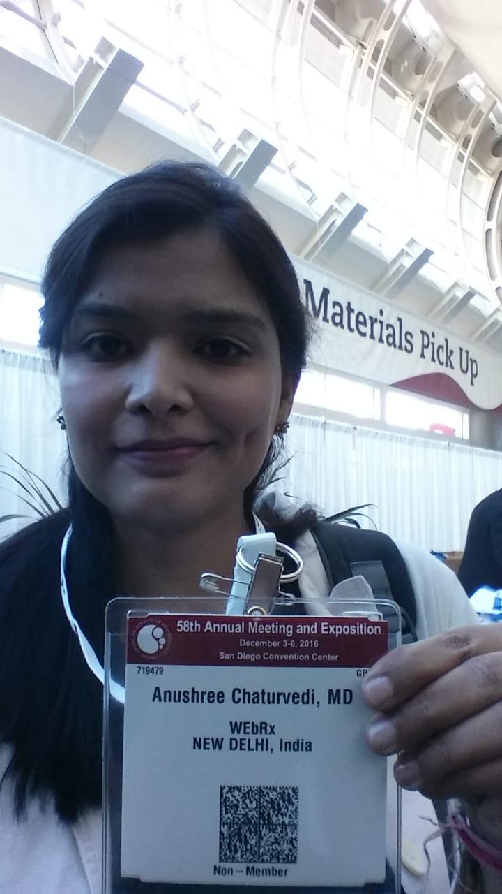 Dr. Anushree Chaturvedi's profile on Curofy