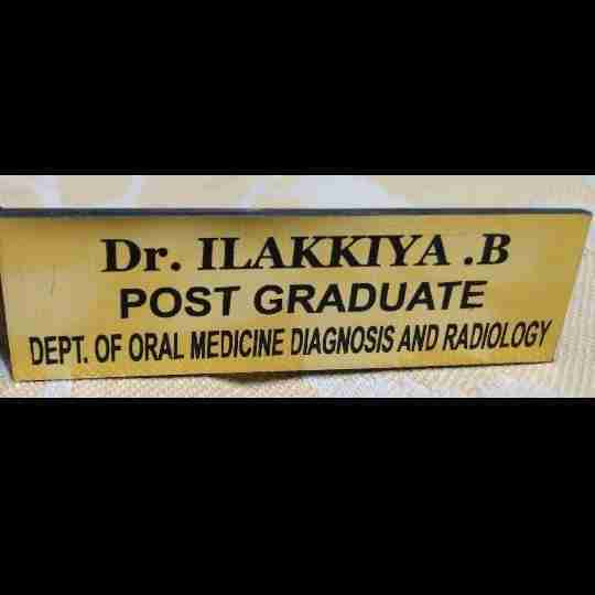 Dr. Ilakkiya Bala's profile on Curofy