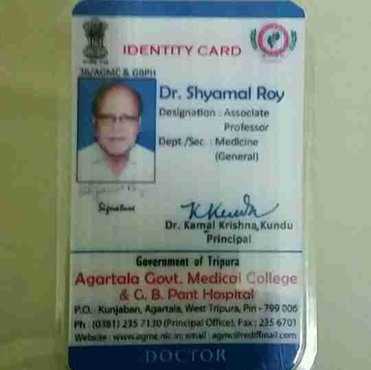Dr. Shyamal Roy's profile on Curofy