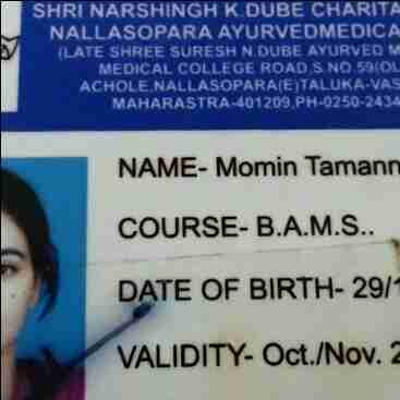Tamanna Momin's profile on Curofy