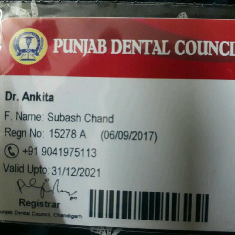 Dr. Ankita Kamra's profile on Curofy