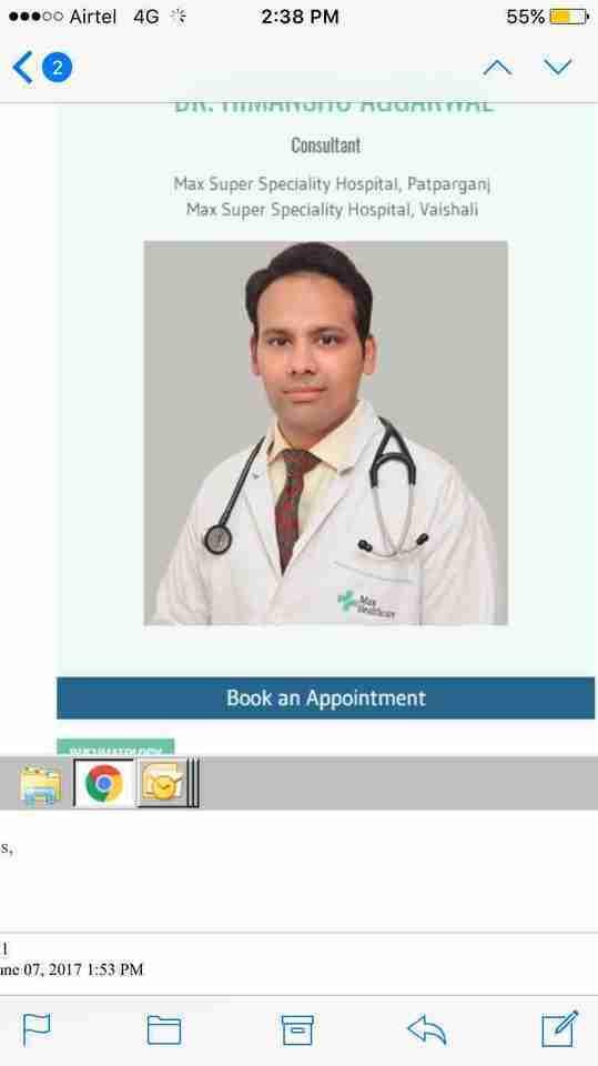 Dr. Himanshu Aggarwal's profile on Curofy