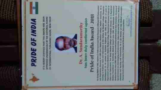 Dr. Sundaramurthy. A's profile on Curofy