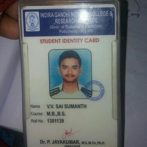 Vv Sai Sumanth's profile on Curofy