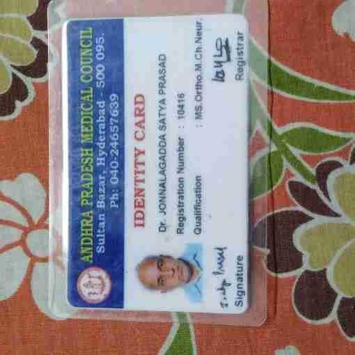 Dr. Satyaprasad Jonnalagedda's profile on Curofy