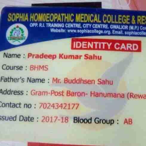 Dr. Pradeep Kumar Sahu's profile on Curofy