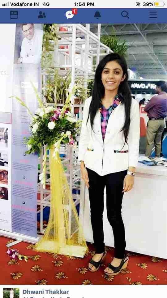 Dhwani Thakkar's profile on Curofy