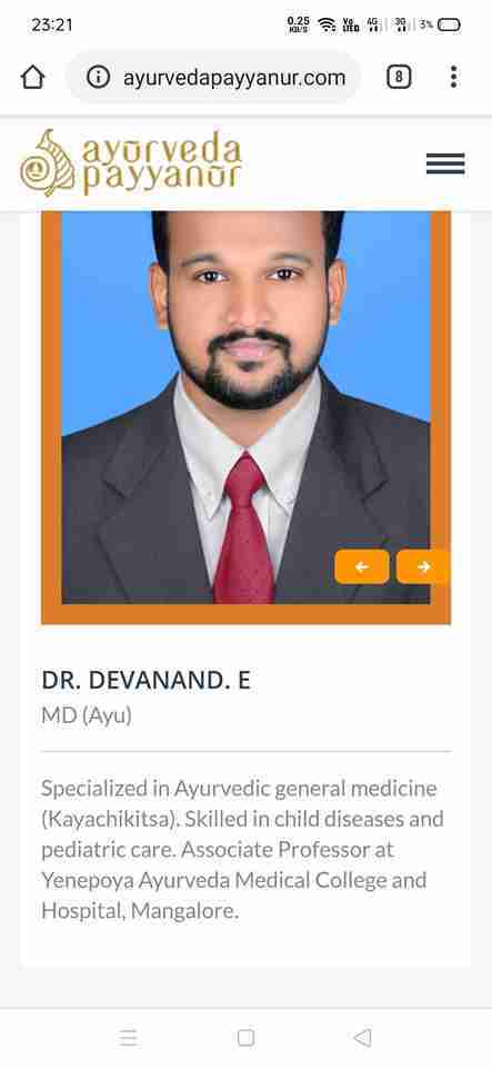 Dr. Devanand E's profile on Curofy