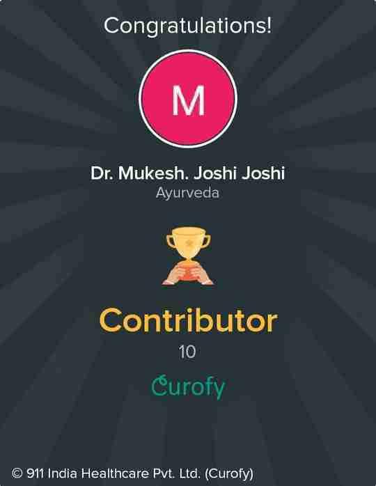 Dr. Mukesh. Joshi Joshi's profile on Curofy