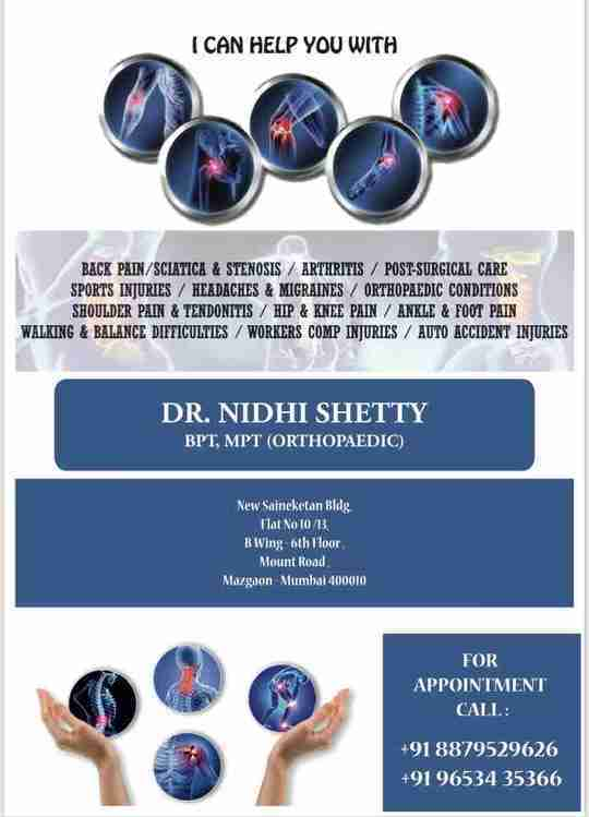Dr. Nidhi Shetty (Pt)'s profile on Curofy