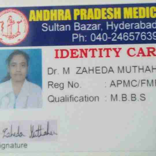 M. Zaheda Muthaher's profile on Curofy