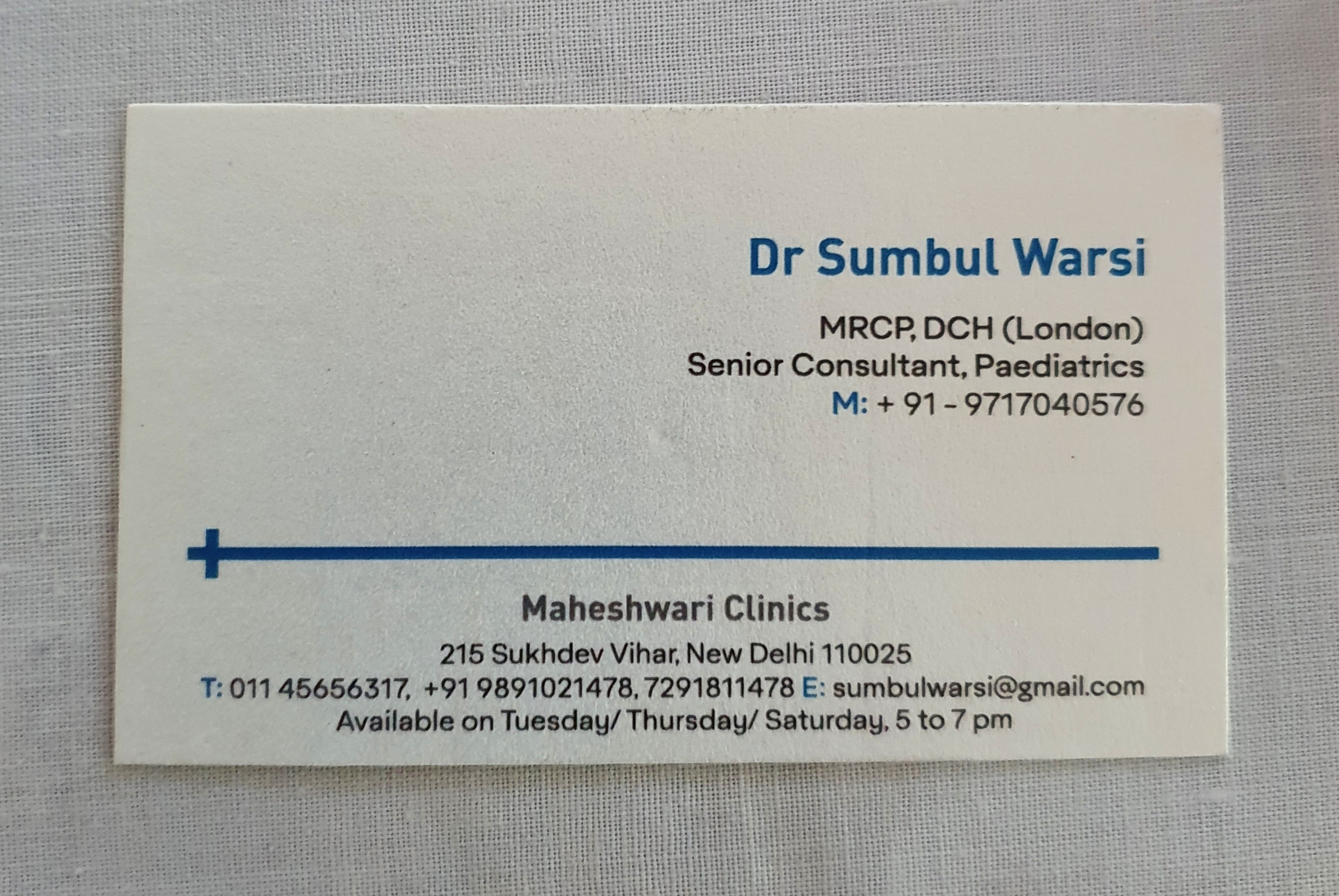 Dr. Sumbul Warsi
