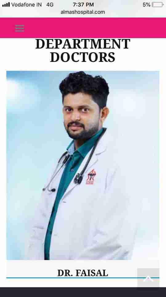 Dr. Faizal Punnakkottil's profile on Curofy